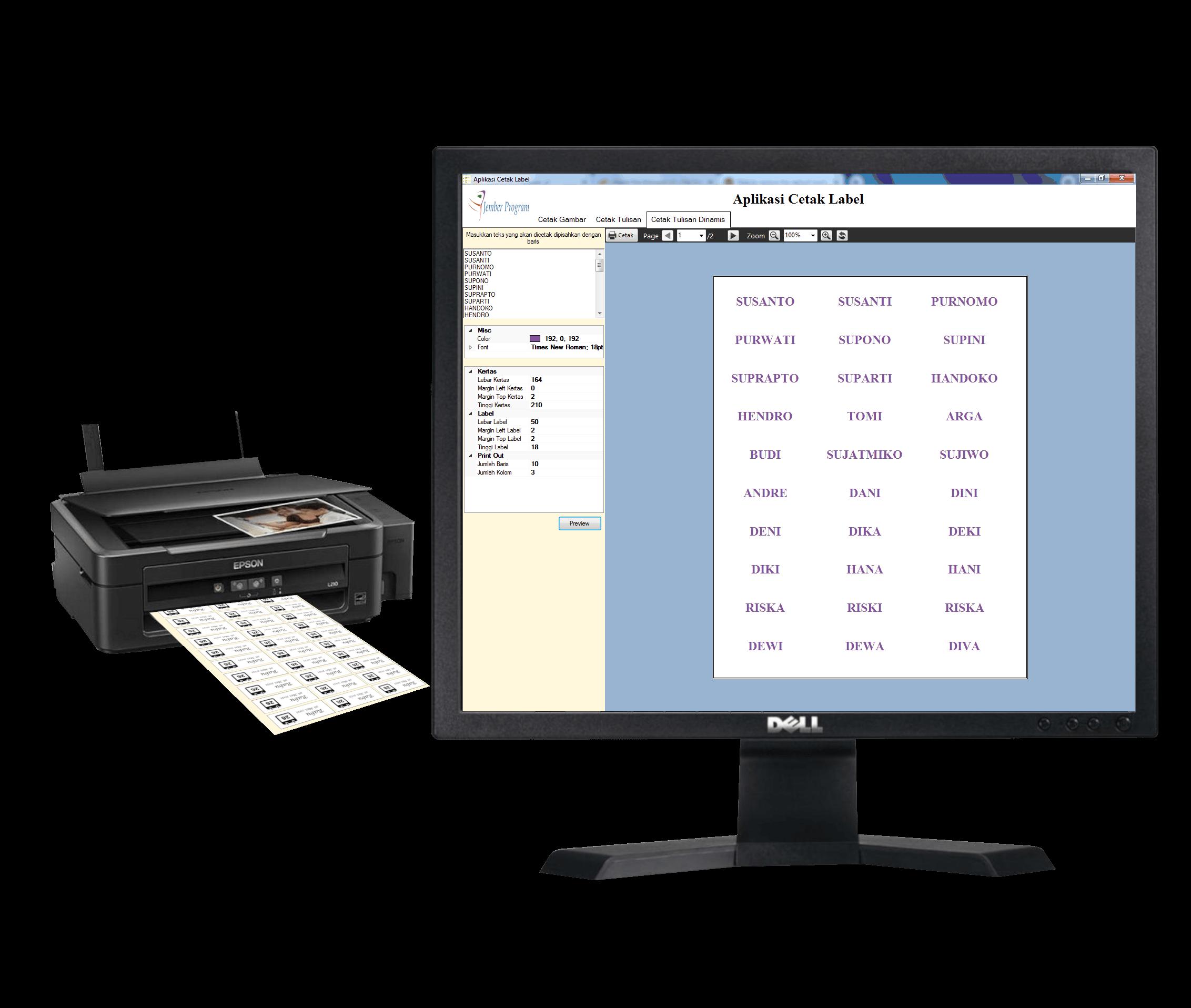 Download Aplikasi Cetak Label Stiker ,jemberprogram